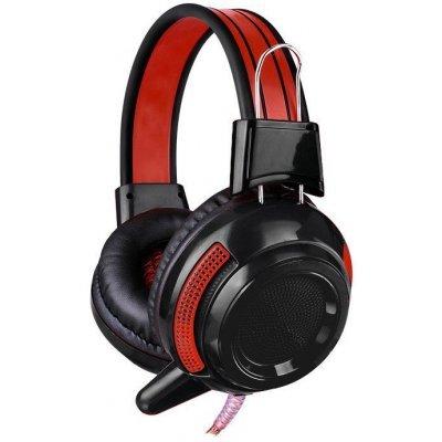 Компьютерная гарнитура OKLICK HS-G300 черный/красный (AH-V1)