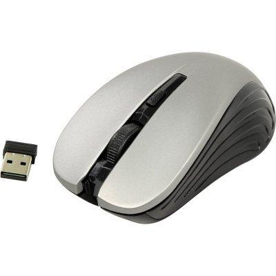 Мышь OKLICK 545MW черный/серый (TM-5500 GREY) мышь oklick 545mw оптическая беспроводная usb черный и черный [tm 5500 black]