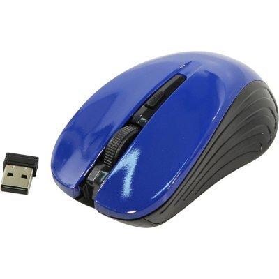 Мышь OKLICK 545MW черный/синий (TM-5500 BLUE) мышь oklick 455mw черный tm 8100 black rubber