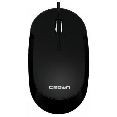 Мышь Crown CMM-21 черный (CMM-21 (black))Мыши Crown<br>оптическая, проводная, 1600 dpi, USB, цвет: чёрный<br>