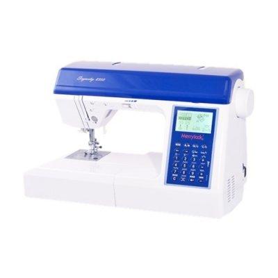 Швейная машина Merrylock 8350 белый/синий (MERRYLOCK 8350)Швейные машины Merrylock<br>швейная машина<br>электронное управление<br>горизонтальный челнок<br>количество операций: 532<br>регулировка давления лапки на ткань<br>автоматическая обработка петли<br>обметочная строчка, потайная строчка, эластичная строчка, эластичная потайная строчка<br>дисплей<br>рукавная платформа<br>