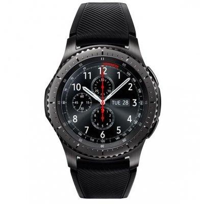 где купить Умные часы Samsung Galaxy Gear S3 Frontier SM-R760 темно-серый (SM-R760NDAASER) дешево