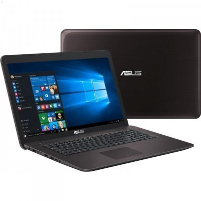 Ноутбук ASUS X756UQ-TY232T (90NB0C31-M02550) (90NB0C31-M02550)Ноутбуки ASUS<br>Core i5-6200/4Gb/1TB/DVD-Super Multi/17.3 HD+ GL/NV GT940M 2GB/Wi-Fi/Windows 10/2.7Kg<br>