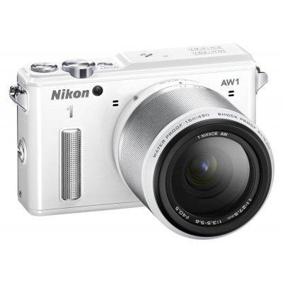 Цифровая фотокамера Nikon 1 AW1 белый 14.2Mpix 2.9 1080i GPS 11-27.5mm f/3.5-5.6 EN-EL20 (VVA203K001)Цифровые фотокамеры Nikon<br>Фотоаппарат Nikon 1 AW1 белый 14.2Mpix 2.9 1080i GPS 11-27.5mm f/3.5-5.6 EN-EL20<br>