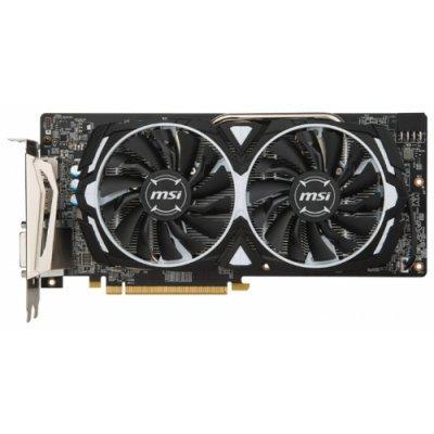 Видеокарта ПК MSI Radeon RX 480 1291Mhz PCI-E 3.0 8192Mb 8000Mhz 256 bit DVI 2xHDMI HDCP ARMOR OC (Radeon RX 480 ARMOR 8G OC)Видеокарты ПК MSI<br>видеокарта AMD Radeon RX 480<br>8192 Мб видеопамяти GDDR5<br>частота ядра/памяти: 1291/8000 МГц<br>поддержка режима SLI/CrossFire<br>разъемы HDMI, DisplayPort x2<br>поддержка DirectX 12, OpenGL 4.5<br>работа с 4 мониторами<br>