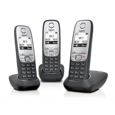 Радиотелефон Gigaset А415 TRIO (L36852-H2505-S311) gigaset a415 trio black