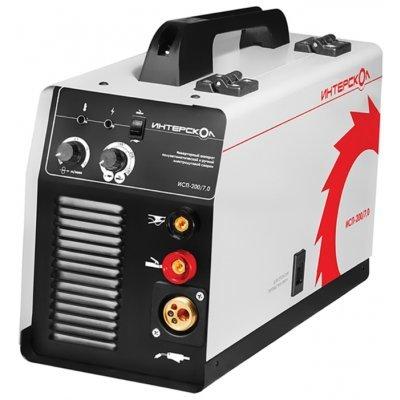 Сварочный аппарат Интерскол ИСП-200/7,0 (264.1.0.00)Сварочные аппараты Интерскол<br>сварочный инвертор<br>типы сварки: ручная дуговая (MMA), полуавтоматическая (MIG/MAG)<br>макс. сварочный ток: 145 А (MMA), 160 А (MIG/MAG)<br>мощность: 7 кВА<br>диаметр электрода: 1.60-4 мм<br>
