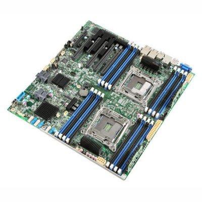 Материнская плата сервера Intel DBS2600CW2SR (DBS2600CW2SR 943804)Материнские плата серверов Intel<br>Материнская Плата Intel DBS2600CW2SR Soc-2011 iC610 SSI EEB 16xDDR4 10xSATA3 SATA RAID iI350 2хGgbEth bulk<br>