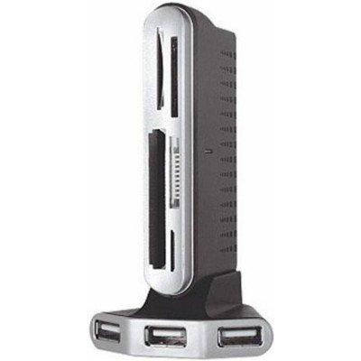 Картридер Konoos UK-11 + HUB 3 порта (UK-11)Картридеры Konoos<br>Картридер USB 2.0 Konoos UK-11 + HUB 3 порта, (5 слотов для карт памяти - MiniSD/SD/MMC/SDHC/MS/Micr<br>