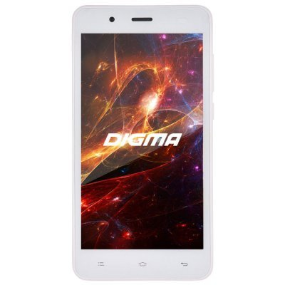 Смартфон Digma S504 3G Vox 8Gb белый (VS5016PG white) digma vox s502 3g