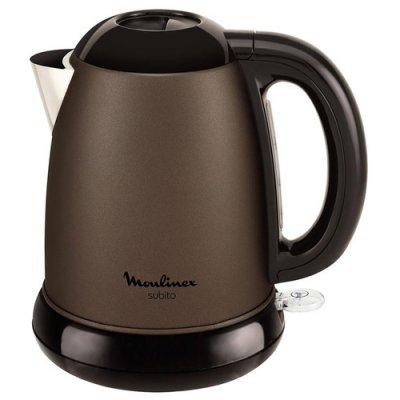 Электрический чайник Moulinex BY540F30 (7211002509)Электрические чайники Moulinex<br>Чайник электрический Moulinex BY540F30 1.5л. 2200Вт коричневый (корпус: металл)<br>