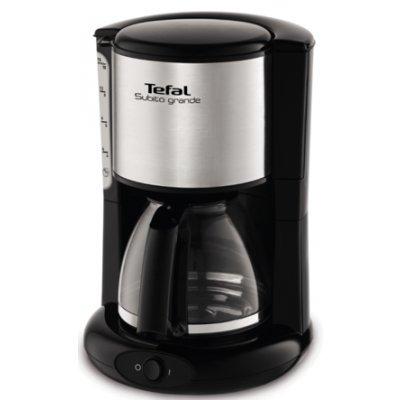 Кофеварка Tefal CM361838 серебристый (7211002512)Кофеварки Tefal<br>Кофеварка капельная Tefal CM361838 1000Вт серебристый<br>