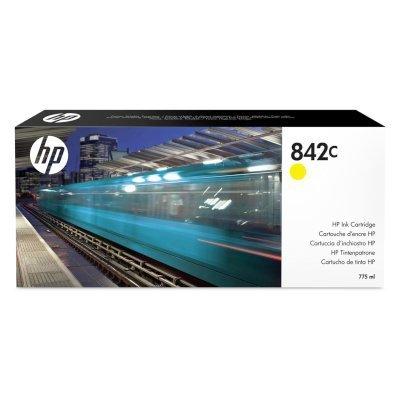 Картридж для струйных аппаратов HP 842C 775-ml Yellow (C1Q56A)Картриджи для струйных аппаратов HP<br>Ресурс 775 мл, цвет: желтый, тип: струйный, серия: 842C, совместим с: PageWide XL<br>