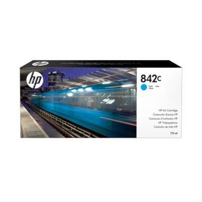 Картридж для струйных аппаратов HP 842C 775-ml Cyan (C1Q54A)Картриджи для струйных аппаратов HP<br>Ресурс 775 мл, цвет: голубой, тип: струйный, серия: 842C, совместим с: PageWide XL<br>