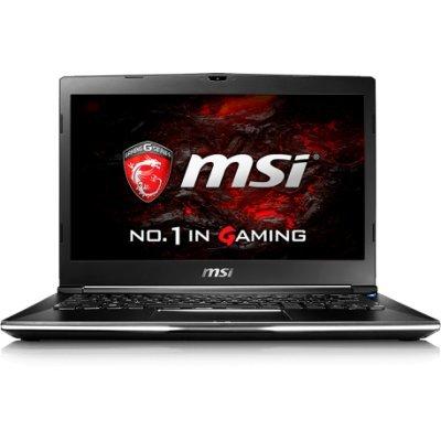 Ноутбук MSI GS32 7QE-014RU (9S7-13F212-014)Ноутбуки MSI<br>13.3(1920x1080 (матовый))/Intel Core i7 7500U(2.7Ghz)/16384Mb/2x256SSDGb/noDVD/Ext:nVidia GeForce GTX950M(2048Mb)/Cam/BT/WiFi/47WHr/war 2y/1.2kg/black/W10<br>