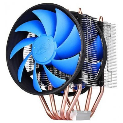 Кулер для процессора DeepCool FROSTWIN V2.0 (FROSTWIN V2)Кулеры для процессоров DeepCool<br>для процессора, Socket 775, 1150, 1151, 1155, 1156, 1366, 2011, 2011-3, AM2, AM2+, AM3, AM3+, FM1, FM2, FM2+, 120x120 мм, 900-1600 об/мин, алюминий + медь<br>
