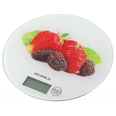 Весы кухонные Supra BSS-4601 белый/клубника (10956) весы supra bss 5601 bss 5601