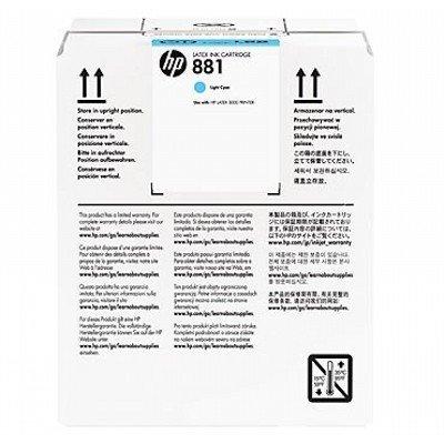 все цены на Картридж для струйных аппаратов HP 881 5-Ltr Lt Cyan Latex Ink Cartridge (CR335A) онлайн