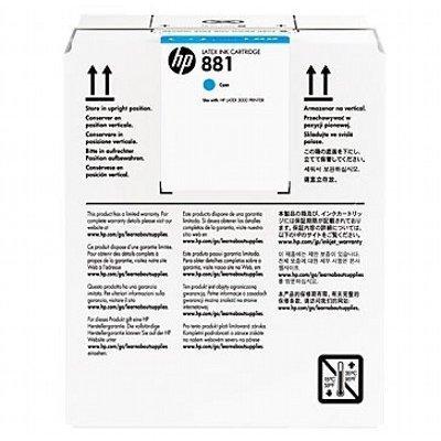 Картридж для струйных аппаратов HP 881 5-Ltr Cyan Latex Ink (CR331A) картридж для струйных аппаратов hp 728 yellow ink f9j61a