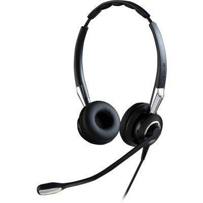 Компьютерная гарнитура Jabra BIZ 2400 II Duo IP 2489-820-209 (2489-820-209)Компьютерные гарнитуры Jabra<br>профессиональная проводная гарнитура, тип подключения: разъем QD, широкополосный аудиодиапазон HD VOICE и Hi-Fi звук, микрофон с шумоподавлением<br>