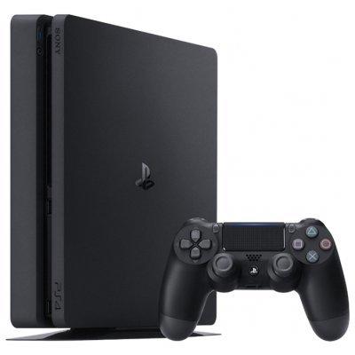 Игровая консоль Sony PlayStation 4 Slim 500Gb EU (PS 4 Slim 500GB EU)Игровые консоли Sony<br>стационарная игровая приставка<br>беспроводной контроллер в комплекте<br>поддержка HD-разрешения<br>поставляется с жестким диском 500 Гб<br>воспроизведение видео<br>Bluetooth, Wi-Fi (802.11ac), LAN<br>