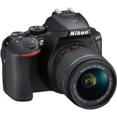 Цифровая фотокамера Nikon D5600 Kit 18-55 AF-P DX G VR (VBA500K001) фотоаппарат зеркальный nikon d5300 kit 18 105 vr