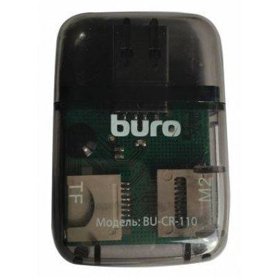 Картридер Buro BU-CR-110 черный (BU-CR-110) картридер buro bu cr 151 черный bu cr 151
