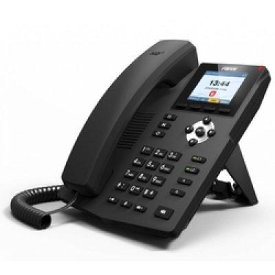 VoIP-телефон Fanvil X3S (X3S)VoIP-телефоны Fanvil<br>2 SIP линии<br>Поддержка аудио HD качества<br>Графический интерфейс со встроенным меню помощи<br>Режим работы телефонная трубка/спикерфон/гарнитура<br>Настольный вариант и вариант настенного монтажа<br>Соответствие стандартам: CE/FCC<br>
