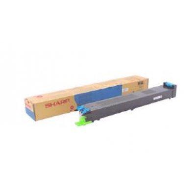 Тонер-картридж для лазерных аппаратов Sharp MX27GTCA MX-2300N/MX-2700N/MX-3500N/MX-4500N cyan (MX27GTCA) тонер картридж черный mx 31gtba