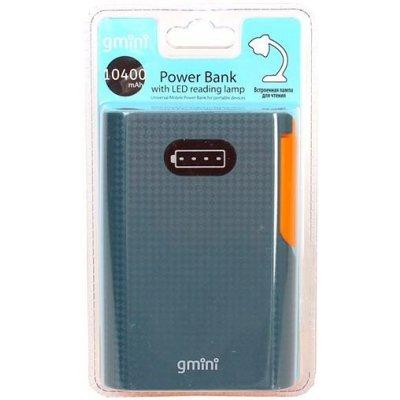 Внешний аккумулятор для портативных устройств Gmini GM-PB104L черный (GM-PB104L)Внешние аккумуляторы для портативных устройств Gmini<br>Внешний аккумулятор Gmini Reading Lamp Series GM-PB104L, Black + Orange, 10400mAh<br>