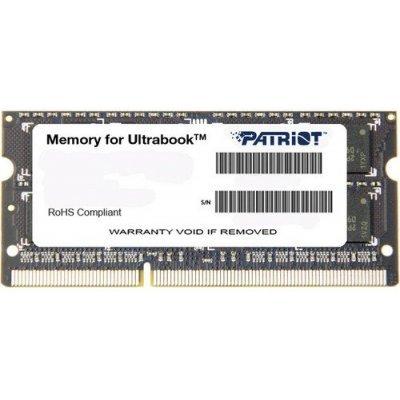Модуль оперативной памяти ноутбука Patriot PSD34G1600L81S (PSD34G1600L81S)Модули оперативной памяти ноутбука Patriot<br>Модуль памяти для ноутбука 4GB PC12800 DDR3L SO PSD34G1600L81S PATRIOT<br>