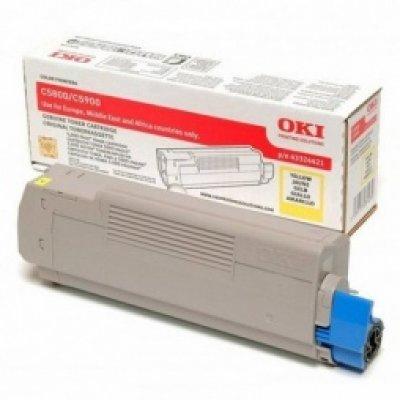 Тонер-картридж для лазерных аппаратов Oki C5800/5900/5550 MFP 5K (yellow) (43324441/43324421) тонер картридж для лазерных аппаратов oki c3300 3400 3450 3600 2 5k cyan 43459347 43459331