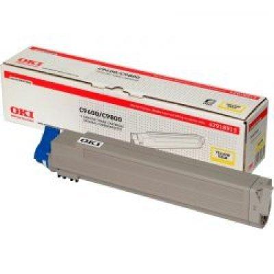 Тонер-картридж для лазерных аппаратов Oki C9600/9650/9800/9850 15K (yellow) (42918961/42918913)Тонер-картриджи для лазерных аппаратов Oki<br>Картридж OKI 42918961/42918913 для C9600/9650/9800/9850<br>