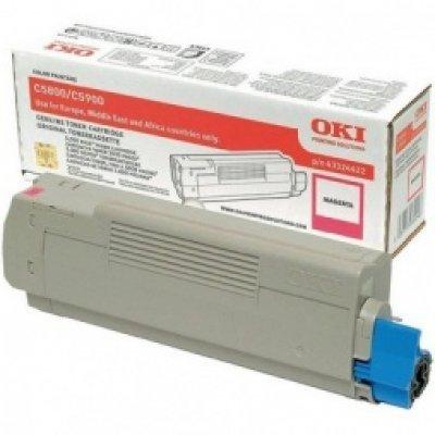 Тонер-картридж для лазерных аппаратов Oki C5800/5900/5550 MFP 5K (magenta) (43324442/43324422) тонер картридж для лазерных аппаратов oki c3300 3400 3450 3600 2 5k cyan 43459347 43459331