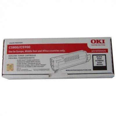 Тонер-картридж для лазерных аппаратов Oki C5800/5900/5550 MFP 6K (black) (43324444/43324424) тонер картридж для лазерных аппаратов oki c3300 3400 3450 3600 2 5k cyan 43459347 43459331