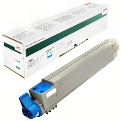 Тонер-картридж для лазерных аппаратов Oki C9655 22K (cyan) (43837135/43837131) тонер картридж для лазерных аппаратов oki c3300 3400 3450 3600 2 5k cyan 43459347 43459331