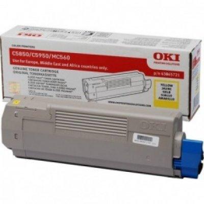 Тонер-картридж для лазерных аппаратов Oki C5850/5950/MC560 6K (yellow) (43865741/43865721) тонер картридж для лазерных аппаратов oki c5650 5750 2k yellow 43872321 43872305