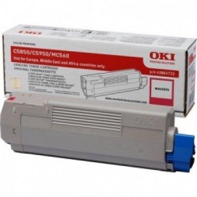 Тонер-картридж для лазерных аппаратов Oki C5850/5950/MC560 6K (magenta) (43865742/43865722) тонер картридж для лазерных аппаратов oki c3300 3400 3450 3600 2 5k cyan 43459347 43459331