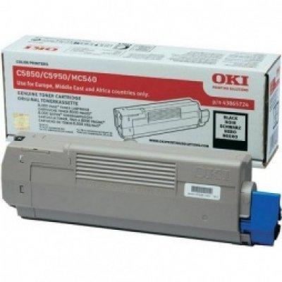 Тонер-картридж для лазерных аппаратов Oki C5850/5950/MC560 8K (black) (43865744/43865724)Тонер-картриджи для лазерных аппаратов Oki<br>Тонер-картридж для лазерных аппаратов Oki C5850/5950/MC560 8K (black)<br>