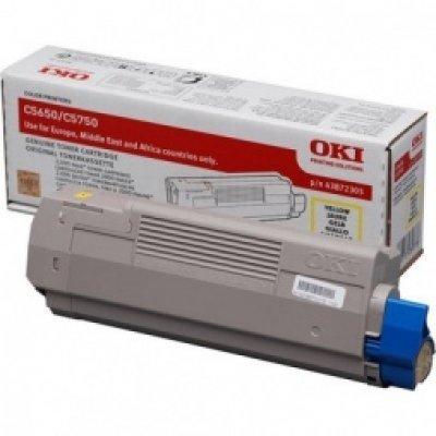 Тонер-картридж для лазерных аппаратов Oki C5650/5750 2K (yellow) (43872321/43872305) тонер картридж для лазерных аппаратов oki c3300 3400 3450 3600 2 5k cyan 43459347 43459331
