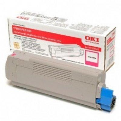 Тонер-картридж для лазерных аппаратов Oki MC861 10K (magenta) (44059262/44059254) тонер картридж для лазерных аппаратов oki c3300 3400 3450 3600 2 5k cyan 43459347 43459331