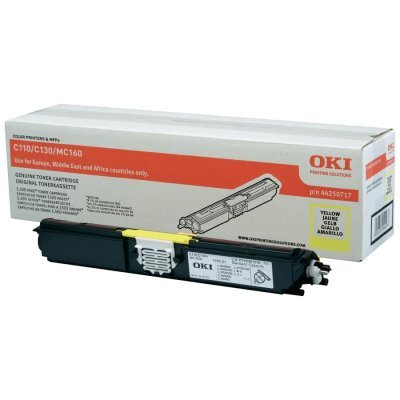 Тонер-картридж для лазерных аппаратов Oki C110/130/MC160 2.5K (yellow) (44250729/44250721) тонер картридж для лазерных аппаратов oki c3300 3400 3450 3600 2 5k cyan 43459347 43459331