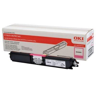 Тонер-картридж для лазерных аппаратов Oki C110/130/MC160 2.5K (magenta) (44250730/44250722)Тонер-картриджи для лазерных аппаратов Oki<br>Тонер-картридж для лазерных аппаратов Oki C110/130/MC160 2.5K (magenta)<br>