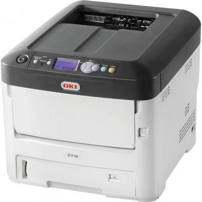 Цветной лазерный принтер Oki C712DN (C712DN/46551102)Цветные лазерные принтеры Oki<br>цветной светодиодный,А4-34/36 (цветной/монохром) ppm, 1200x600, дуплекс, сеть<br>
