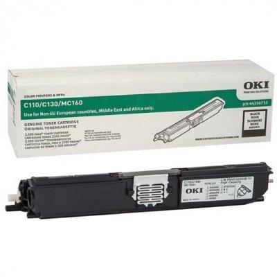 Тонер-картридж для лазерных аппаратов Oki C110/130/MC160 2.5K (black) (44250732/44250724)Тонер-картриджи для лазерных аппаратов Oki<br>Тонер-картридж для лазерных аппаратов Oki C110/130/MC160 2.5K (black)<br>