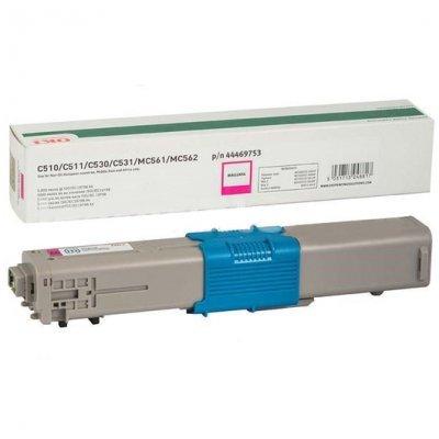 Тонер-картридж для лазерных аппаратов Oki C510/511/530/531/MC561/562 5K (magenta) (44469753/44469723)Тонер-картриджи для лазерных аппаратов Oki<br>Тонер-картридж для лазерных аппаратов Oki C510/511/530/531/MC561/562 5K (magenta)<br>