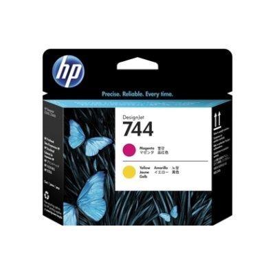Печатающая головка HP 744 DesignJet, Пурпурная/ Желтая (F9J87A)Печатающие головки HP<br>для 744 HP DesignJet, цвет: пурпурный - желтый (F9J87A)<br>