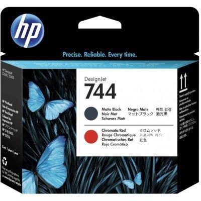 Печатающая головка HP 744 DesignJet, Черная матовая/ Хроматическая красная (F9J88A)Печатающие головки HP<br>744 HP DesignJet, Черная матовая/ Хроматическая красная (F9J88A)<br>