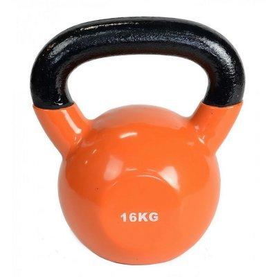 Гиря HouseFit 1172-00 16КГ (1172-00/16КГ)Гири HouseFit<br>Гиря для кроссфита с виниловым покрытием 16кг оранж.<br>