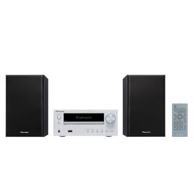 Аудио микросистема Pioneer X-HM26-S серебристый (X-HM26-S) pioneer микросистема pioneer x hm26 b черный 30вт cd cdrw fm usb bt